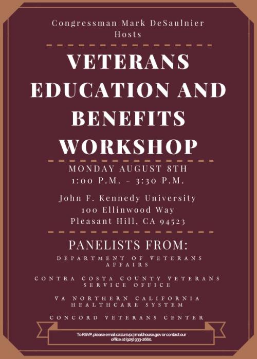 Veterans Education and Benefits Workshop